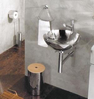 Lavabos acero inoxidable de lineabeta albio for Lavamanos de cristal
