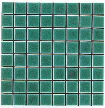 Mosaico cerasarda verde para el for Cera de hormigon para azulejos de bano