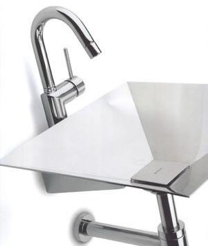El acero inoxidable de la placa de bertocci hunde lavabos for Lavabo de acero inoxidable