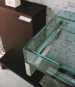 Lavabos cristal de puzzle de tenda dorica - Encimera lavabo cristal ...