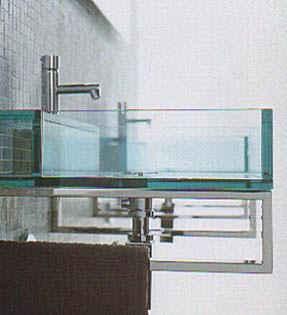 Lavabos cristal de puzzle de tenda dorica for Lavabos de cristal