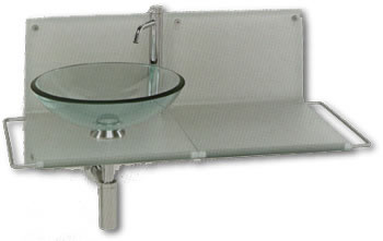 Lavabos vidrio tau de bolan lavabos acero porcelana for Lavabo vidrio