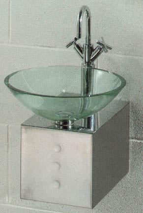 Lavabos cristal de tulli zuccari cubo for Lavabo vidrio